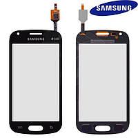 Сенсорный экран (touchscreen) для Samsung Galaxy Trend Plus S7580, черный, оригинал