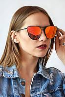 Cолнцезащитные женские очки оранжевые (99020)