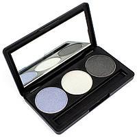 Набор теней для век 3 цвета Beauties Factory Eyeshadow Palette #08 - STORMING SKY