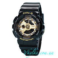 Часы Casio Baby-G черные с золотом ААА