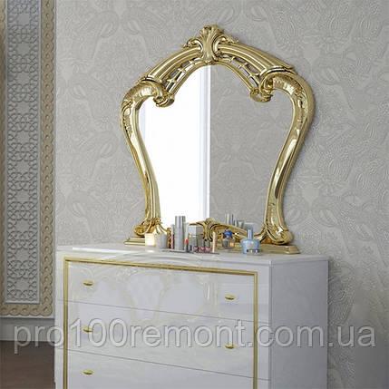 Зеркало ЕВА глянец белый/золото от Миро-Марк, фото 2