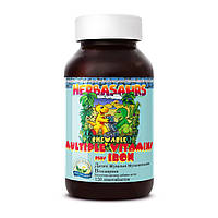 Herbasaurs Children's Chewable Multiple Vitamins plus Iron-витамины для детей натуральные