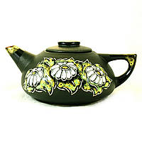 Чайник заварочный керамический большой ручная роспись Ромашки 9361