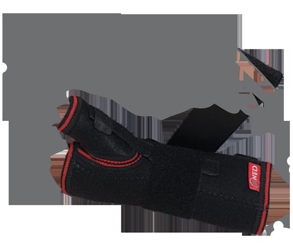 Бандаж на лучезапястный сустав с ребром жесткости (с фиксацией пальца)
