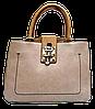 Оригинальная женская сумочка бежевого цвета с замочком GGM-133864