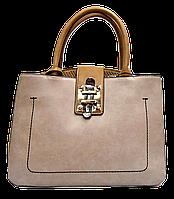 Оригинальная женская сумочка бежевого цвета с замочком GGM-133864, фото 1