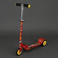 Самокат Тачки для детей 3-6 лет, 3 колеса 12,5 см, PVC. Детский самокат