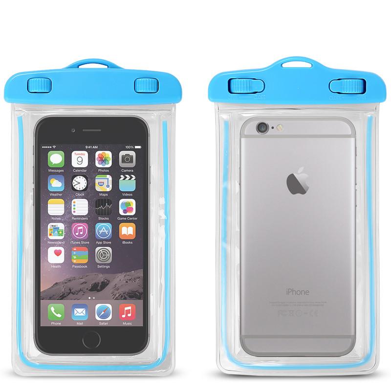 Водонепроницаемый чехол для смартфонов до 5,5 '' голубой
