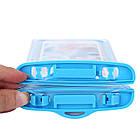 Водонепроницаемый чехол для смартфонов до 5,5 '' голубой, фото 2