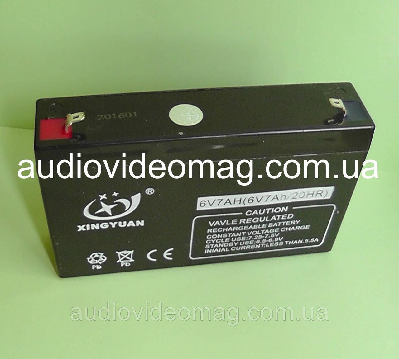Аккумулятор 6V, ёмкость 7 Ah