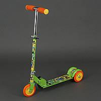 Самокат Майнкрафт для детей 3-6 лет, 3 колеса 12,5 см, PVC. Детский самокат