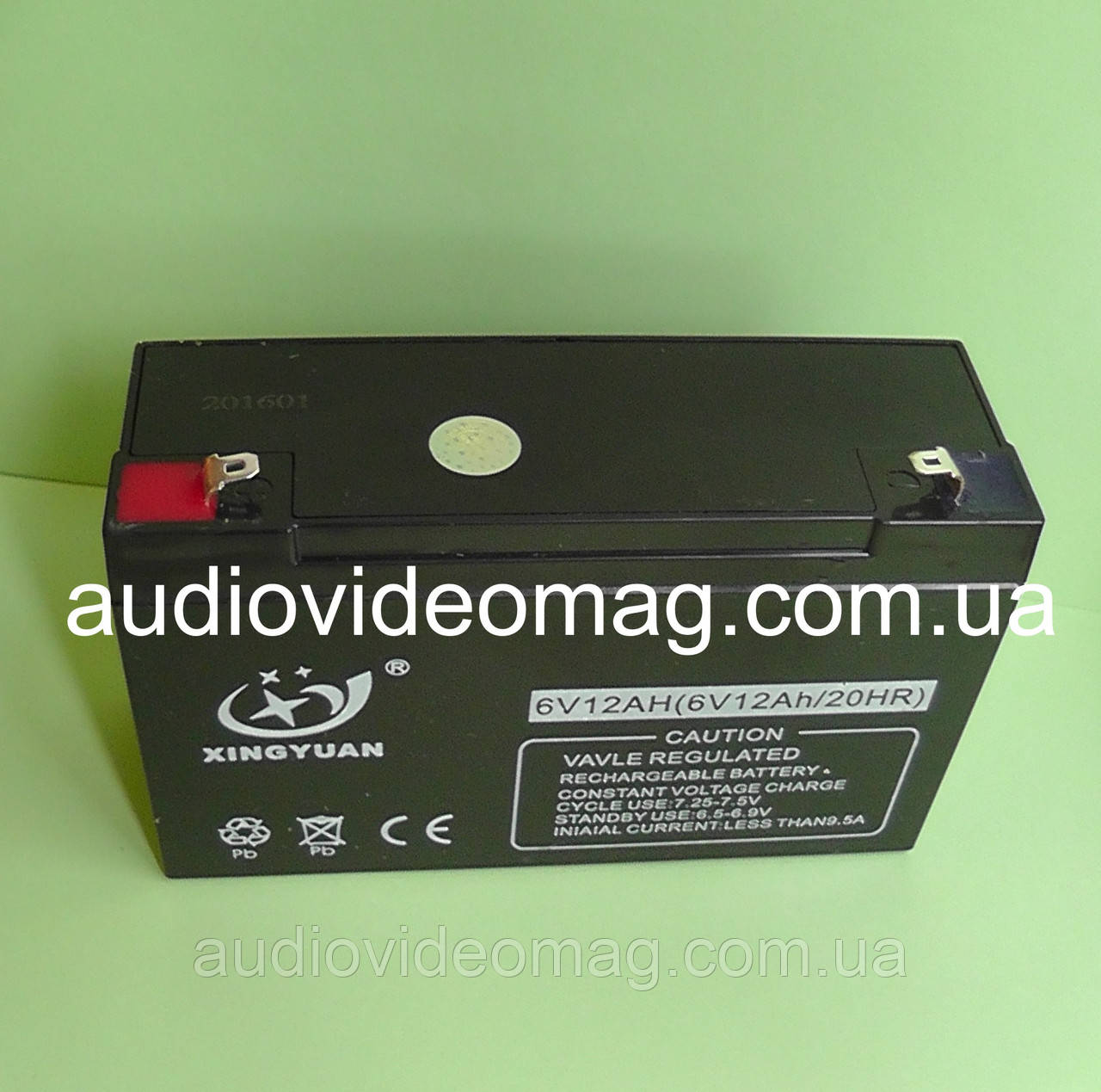 Аккумулятор 6V 12Ah