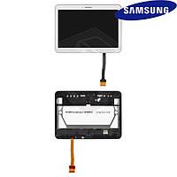 Дисплейный модуль (дисплей + сенсор) для Samsung Galaxy Tab 4 10.1 T530, с рамкой, белый, оригинал