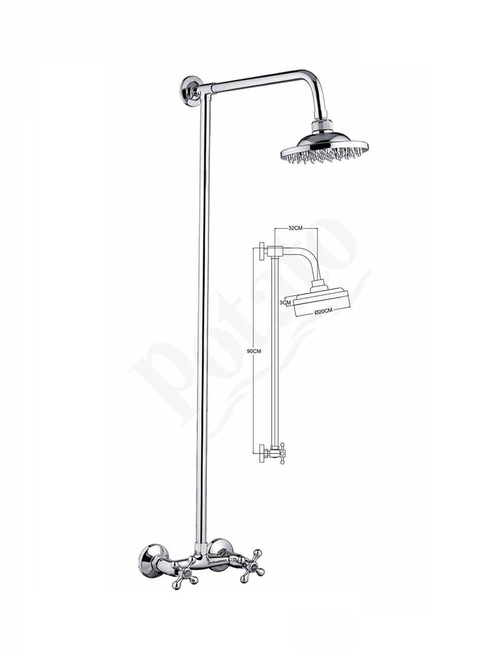 Смеситель в душ со стойкой купить купить смеситель аккона в екатеринбурге