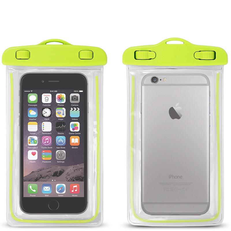 Водонепроницаемый чехол для смартфонов до 5,5 '' зеленый