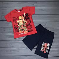 Комплект Футболка и шорты Ниндзяго для мальчиков оптом р.98-128