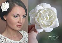 """Заколка цветок """"Гардения цвета айвори"""".  Свадебные украшения для волос"""