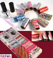 Набор для дизайна ногтей Fab Foils, Украшения для ногтей Fab Foils