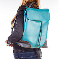 Бирюзовый рюкзак 1366blue женский модный стильный