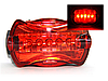 Велофара задняя Габарит маячок 5 LED диодов 6 режимов HY-198