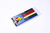 """Фломастеры для рисования """"Фломзики"""",6 цветов в пластиковом пенале, №858-6"""