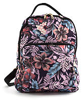 Небольшой стильный яркий рюкзак для девушекart. 165 сиреневые цветы