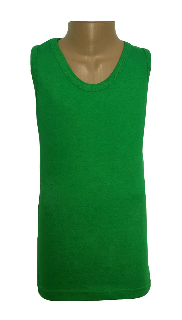 Майка подростковая зелёная