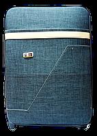 Чемодан дорожный (большой) серо-черного цвета Ч7