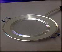 LED светильник Z-Light встраиваемый круг ZL2006 7w 4500k серебристый