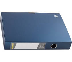 Бокс для документів на липучці, 55мм, , т. синiй