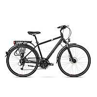 Велосипед INDIANA X-Road 4.0 M21 Czarno-серебристый Mat