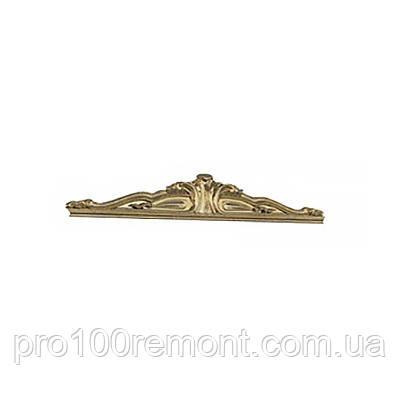 Корона - декоративный элемент для шкафа ЕВА глянец белый/золото от Миро-Марк