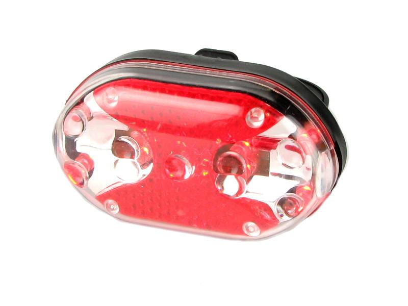 Велофара задняя Габарит маячок 9 LED диодов 7 режимов HY-208