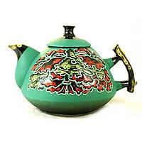 Чайник заварочный керамический феншуй ручная роспись Маки 800мл 9368