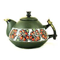 Чайник заварочный керамический феншуй ручная роспись Цветочный орнамент 800мл 9369