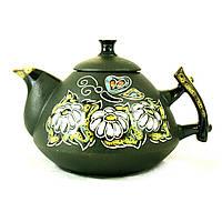 Чайник заварочный керамический феншуй ручная роспись Ромашки 800мл 9370
