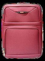 Чемодан дорожный (средний) бордового цвета Ч9, фото 1