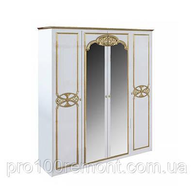 Шафа 4 двері ЄВА глянець білий/золото від Миро-Марк