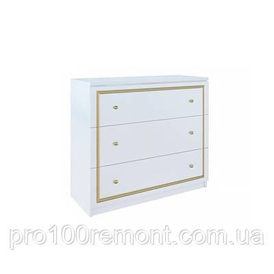 Комод 3 ящика ЕВА глянец белый/золото от Миро-Марк, фото 2