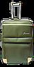 Чемодан дорожный (средний) темно-зеленого цвета Ч10