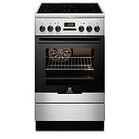 Кухонная плита ELECTROLUX EKC54550OX ШxГxВ(50x60x85), верх:электрический, низ:электрический, цвет:нержавеющая