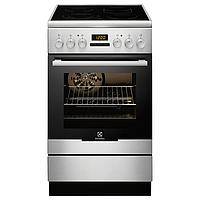 Кухонная плита ELECTROLUX EKC54552OX ШxГxВ(50x60x85), верх:электрический, низ:электрический, цвет:нержавеющая