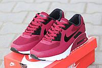 Мужские кроссовки Nike Air Max Hyperfuse, плотная сетка, бордовые / кроссовки мужские Найк Аир Макс Гиперфьюз