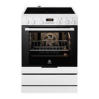Кухонная плита ELECTROLUX EKC6430AOW ШxГxВ(60x60x85), верх:электрический, низ:электрический, цвет:белый
