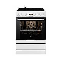 Кухонная плита ELECTROLUX EKC6450AOW ШxГxВ(60x60x85), верх:электрический, низ:электрический, цвет:белый