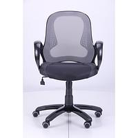 Кресло Матрикс-LB Черный, сиденье Сетка черная/спинка Сетка серая (AMF-ТМ)