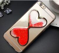 Силиконовый чехол Песочные часы красный iphone 6/6S, фото 1