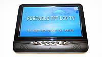 Портативный телевизор 9.5 дюймов USB SD FM Аккумулятор