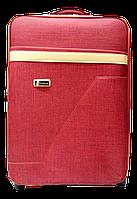 Чемодан дорожный (средний) бордового цвета Ч12, фото 1