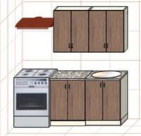 """Кухня """"Оптима"""" длина 1,2 м - вариант №1"""